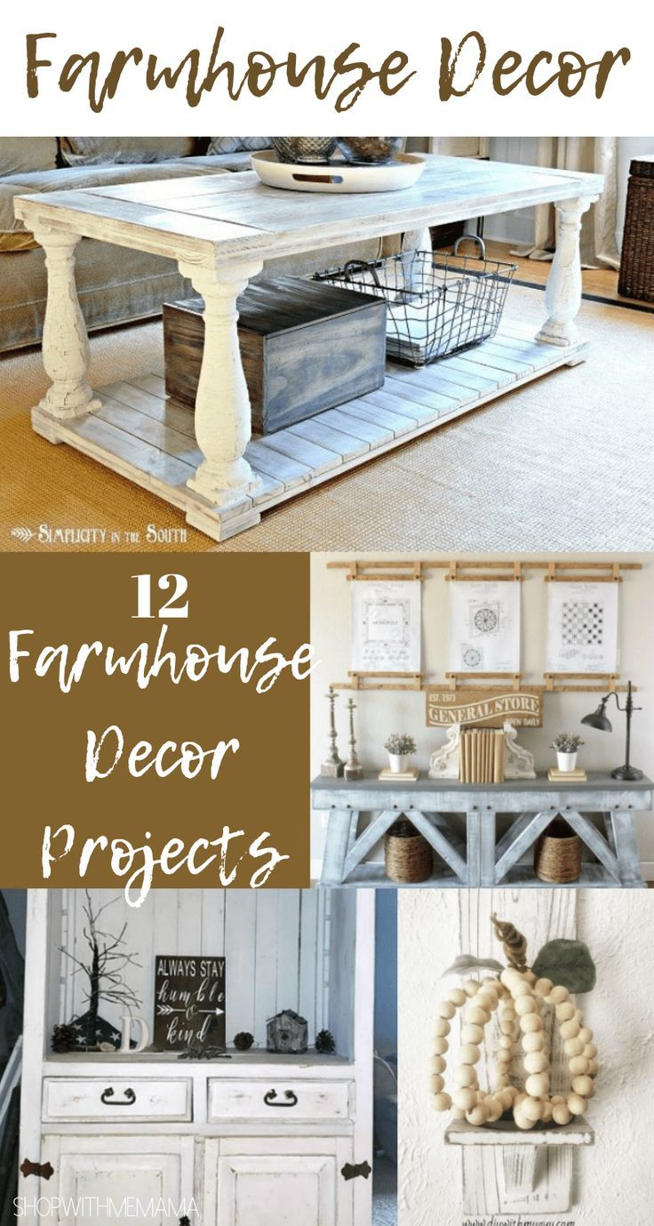 12 Farmhouse Decor projects That Will Make You Want To Redo Your Home! #diy #home #homedecor #farmhousedecor #farmhouse #farmhousestyle #rustic #farmhousestyle #rusticfurniture #rustichomedecor #furniturepainting  #furniture