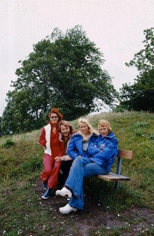 ABBA 1977 - by Manuel Litran / Paris Match