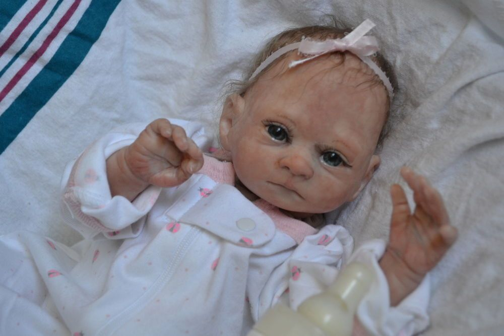 OOAK Reborn baby girl with 3d skin Juliet  preemie   art doll artist newborn