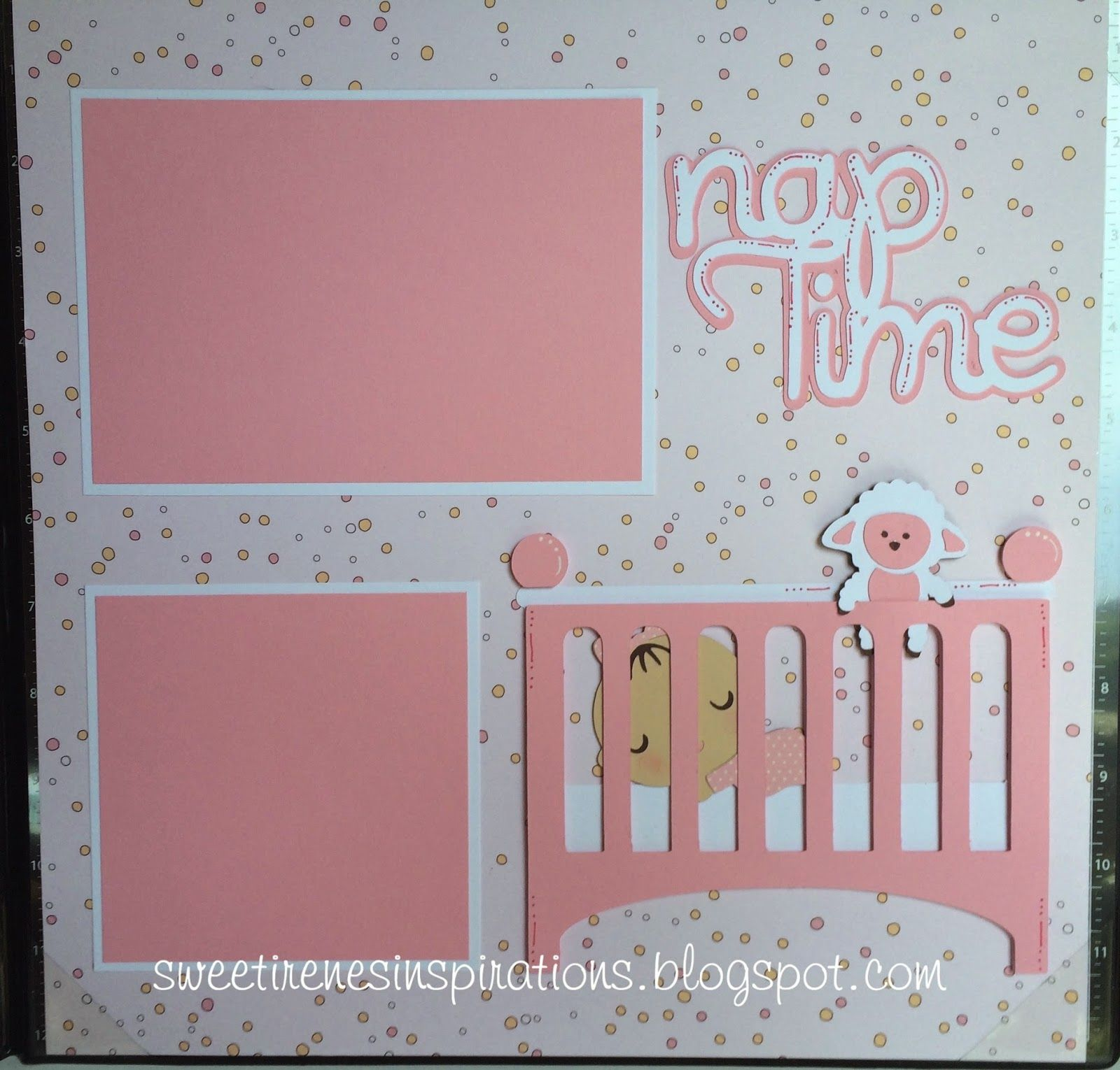 Baby Girl Scrapbook Pages Bath and Nap Time