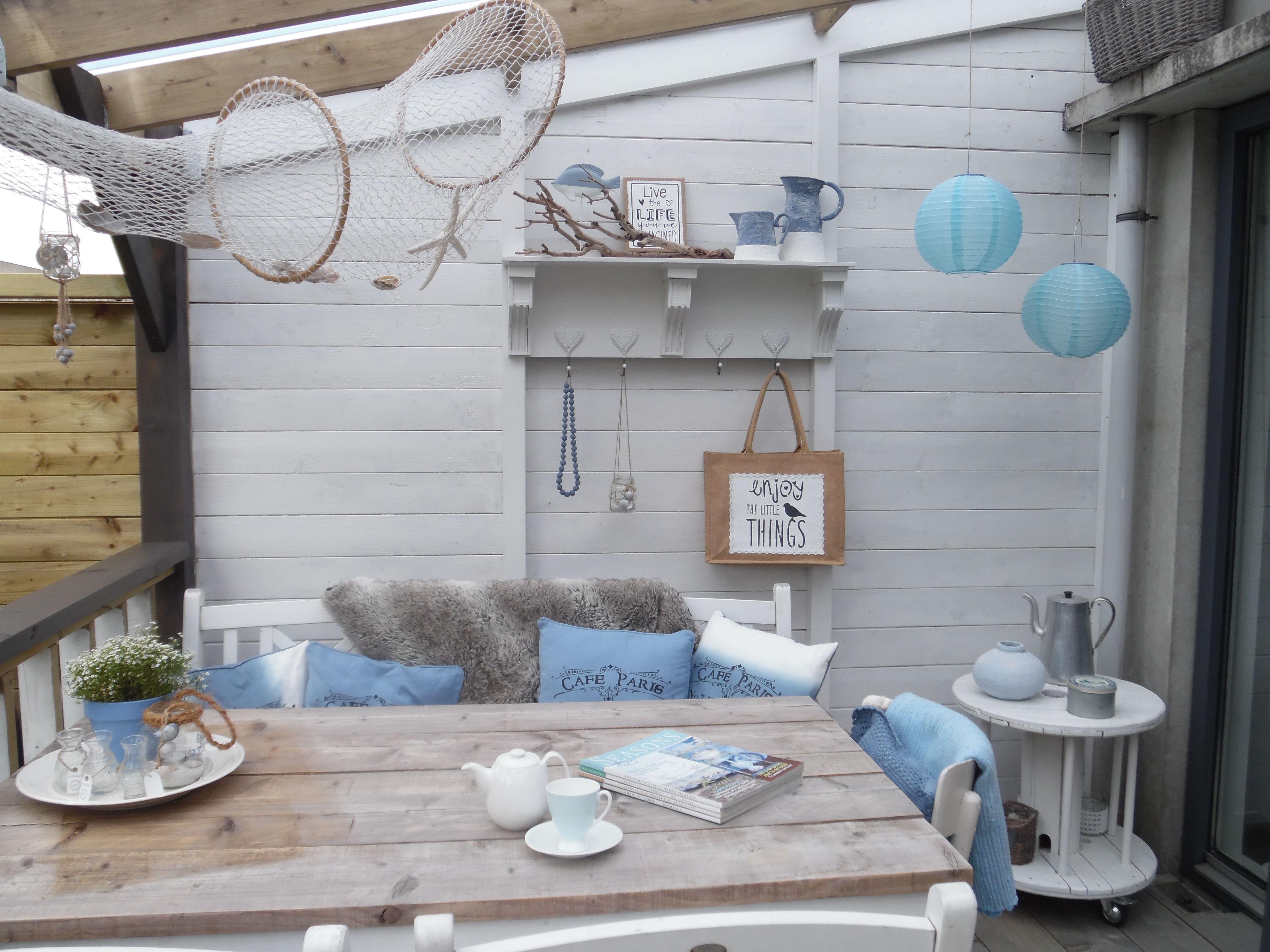De veranda in strandstijl jeannets for Decoratie zomer