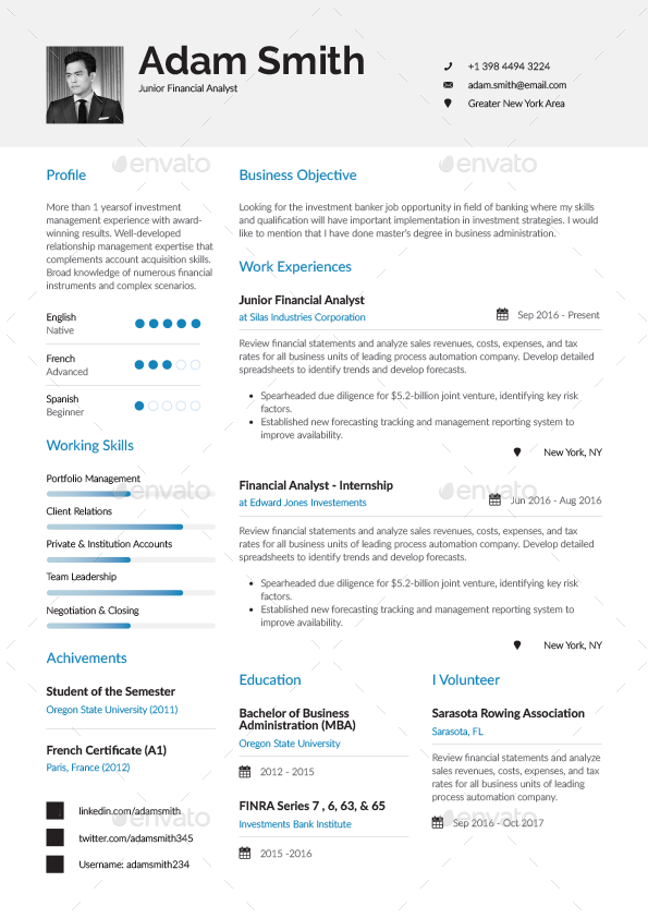Resume  Cv Template  Word And Indesign  Hair Growth