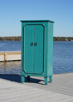 Cabby Jewelry Armoire ~ Rustic Turquoise | Jewelry armoire ...
