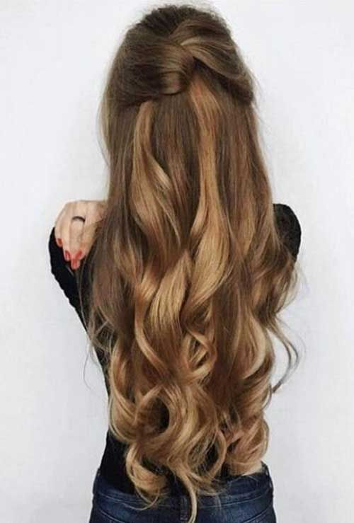 20 Stylish Easy Updos for Long Hair #hairstyle