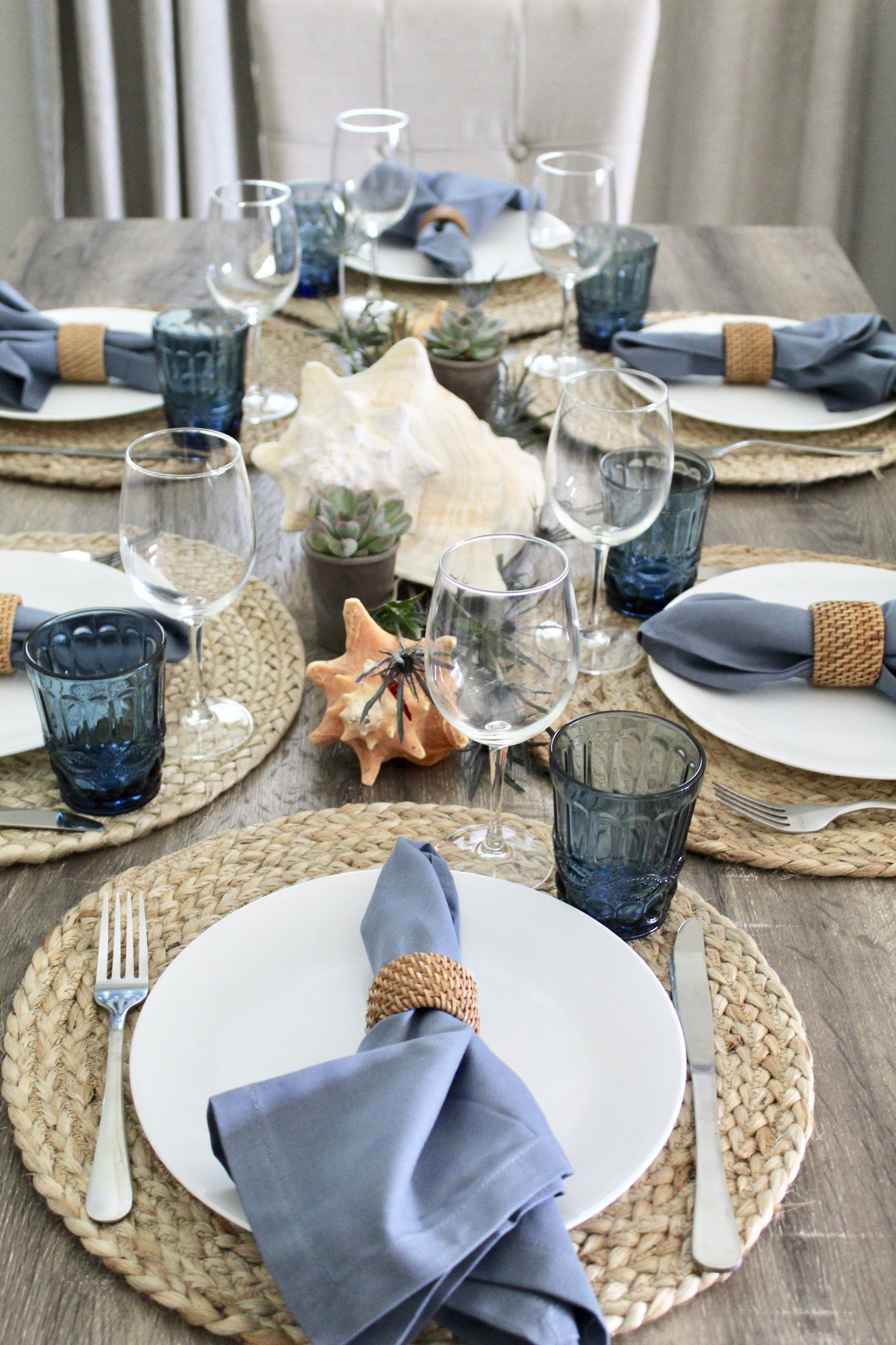 Seaside Table Setting   Oh How Charming by Lauren