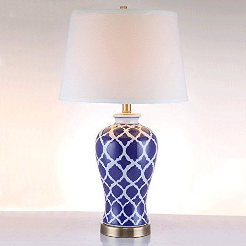 Fdh American Blue And White Chinese Porcelain Table Lamps Bedside Lamp Bedroom Living Room Decorativ Lamps Living Room Ceramic Table Lamps Table Lamp