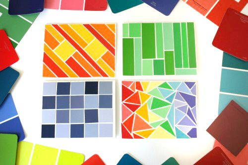 Create beautifully personalized greeting cards out of paint chips - Sample Cards