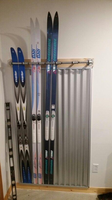Cross Country Ski Rack Corrugated Metal Cross Country