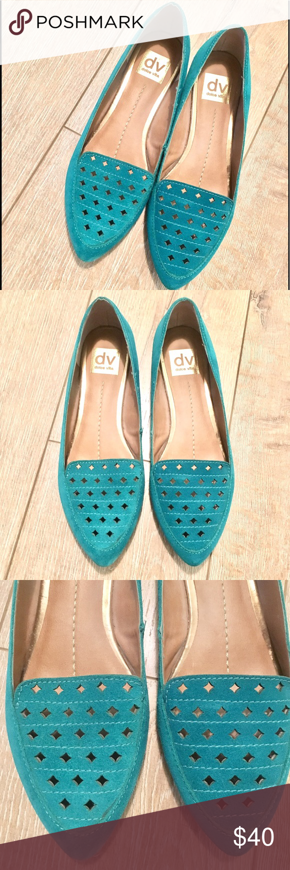 Dolce vita Flats Teal Dolce Vita Flats lightly worn. Dolce Vita Shoes Flats & Loafers