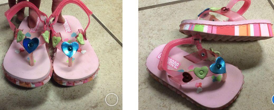Gymboree size 6M toddler girls Velcro pink sandals hearts. $9