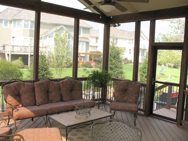 screened in porches screened porch interior designs in kansas city archadeck of kansas - Screened In Porch Ideas Design