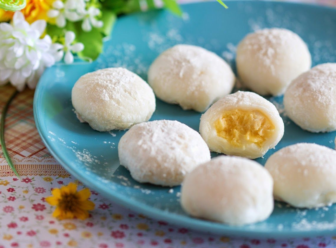 Durian mochi - a sweet snack for the durian lovers.   Gingybite\'s ...