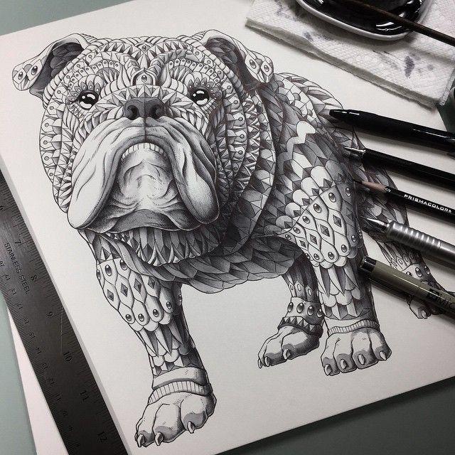 Coloriage Bouledogue Anglais.English Bulldog By Bioworkz Deviantart Com On Deviantart