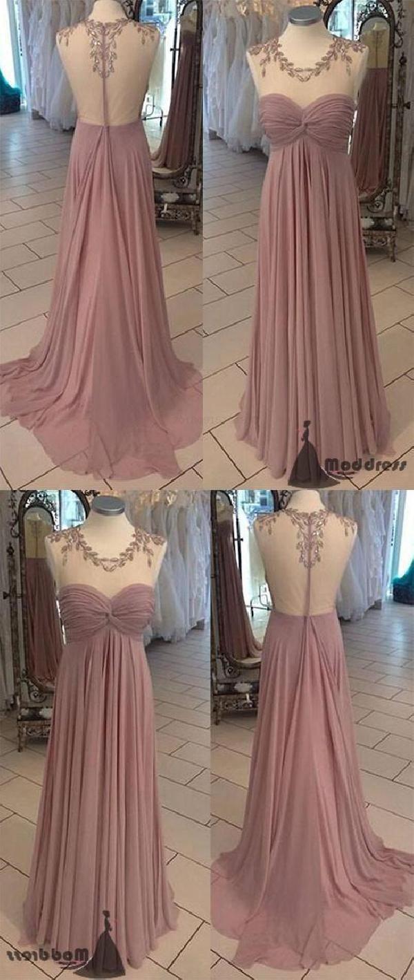 Custom made vogue bridesmaid dresses chiffon wedding dresses aline