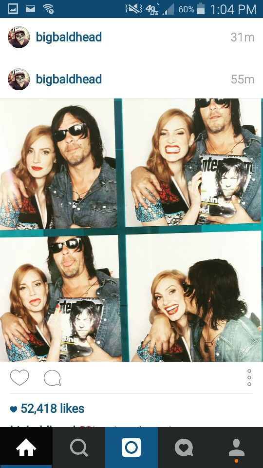 Norman Reedus and Jessica Chastain