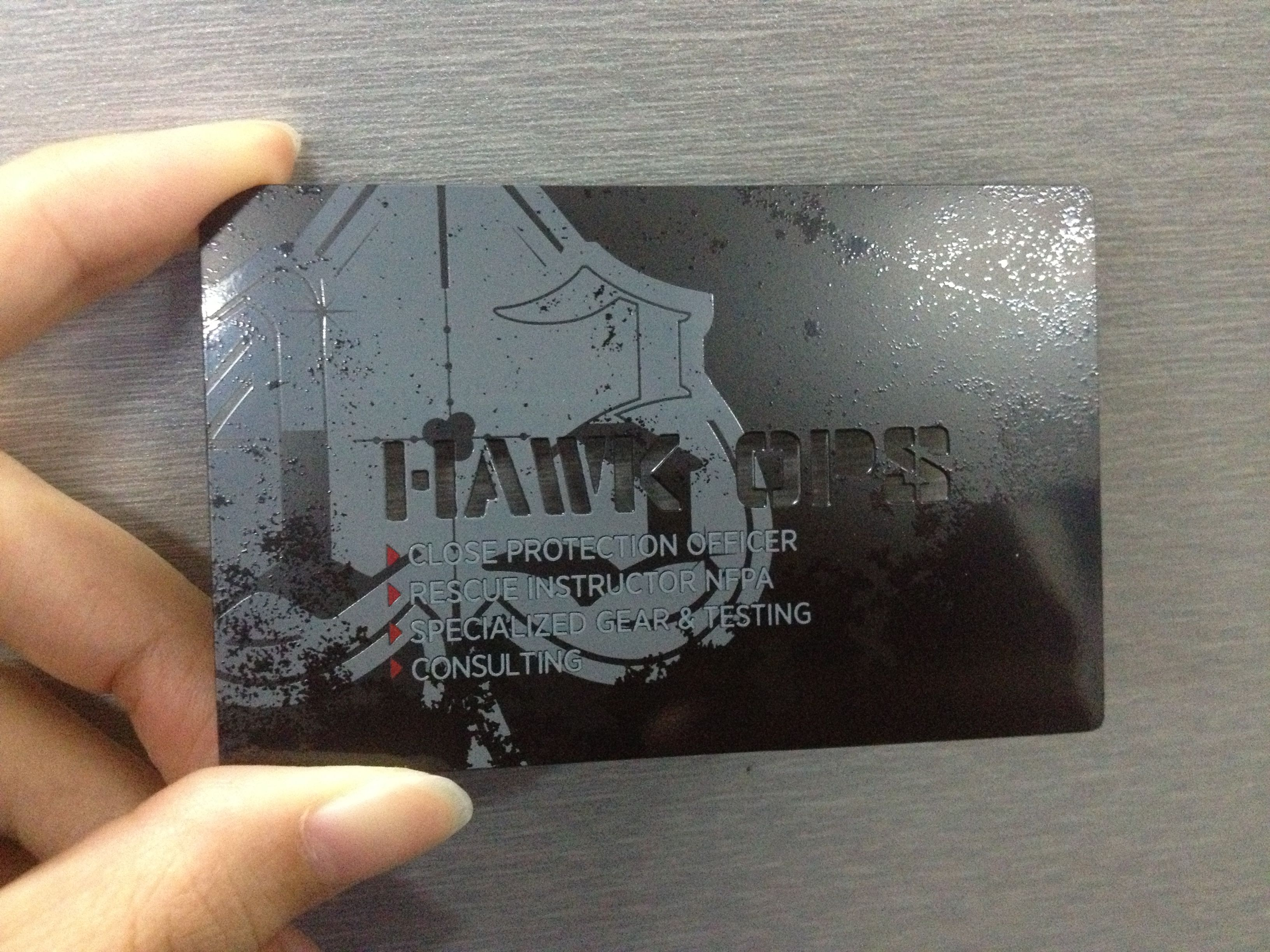 military metal business cards business cards