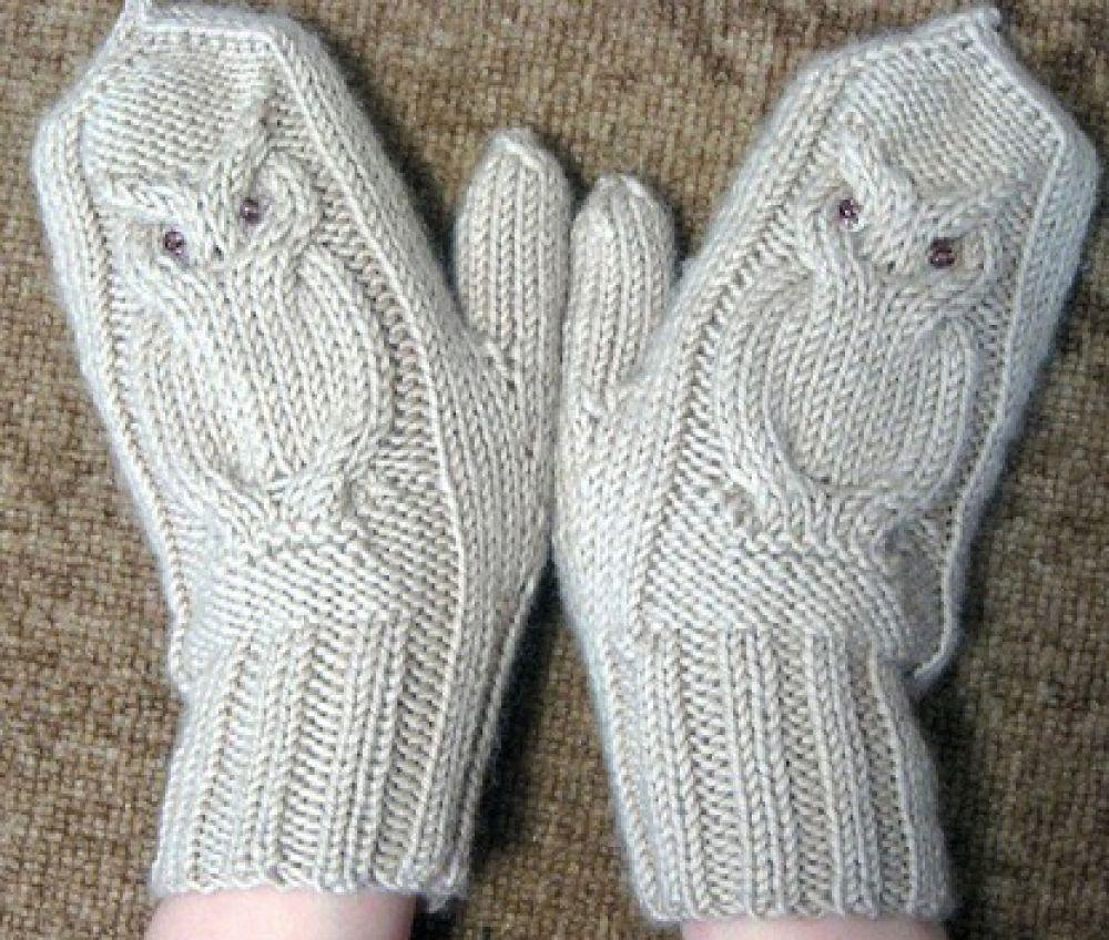 Варежки с совами | рисунки для вязаных рукавичек | Lapaset ...