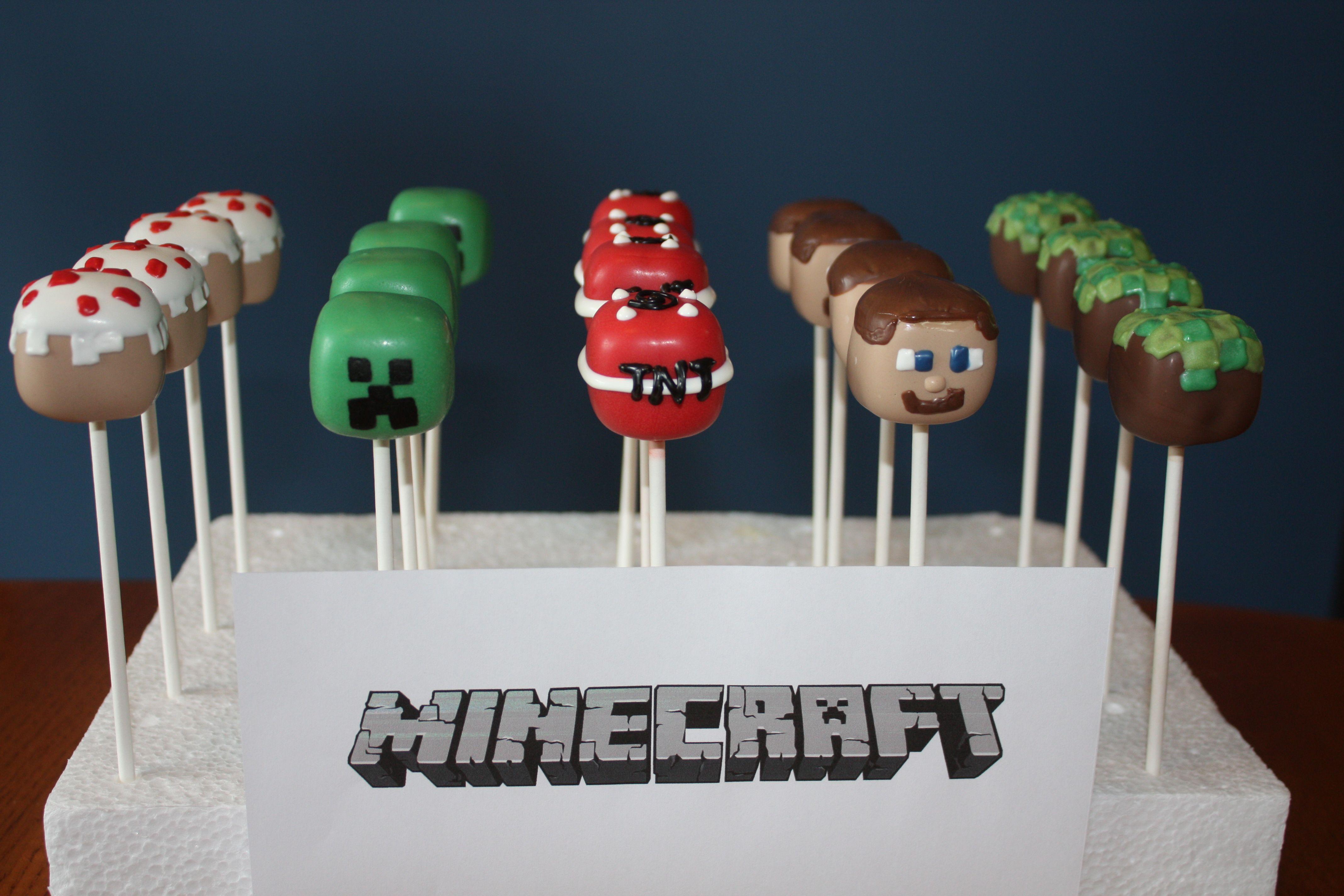 Minecraft Cake Pops Www Facebook Com Katiessweetshoppe Minecraft