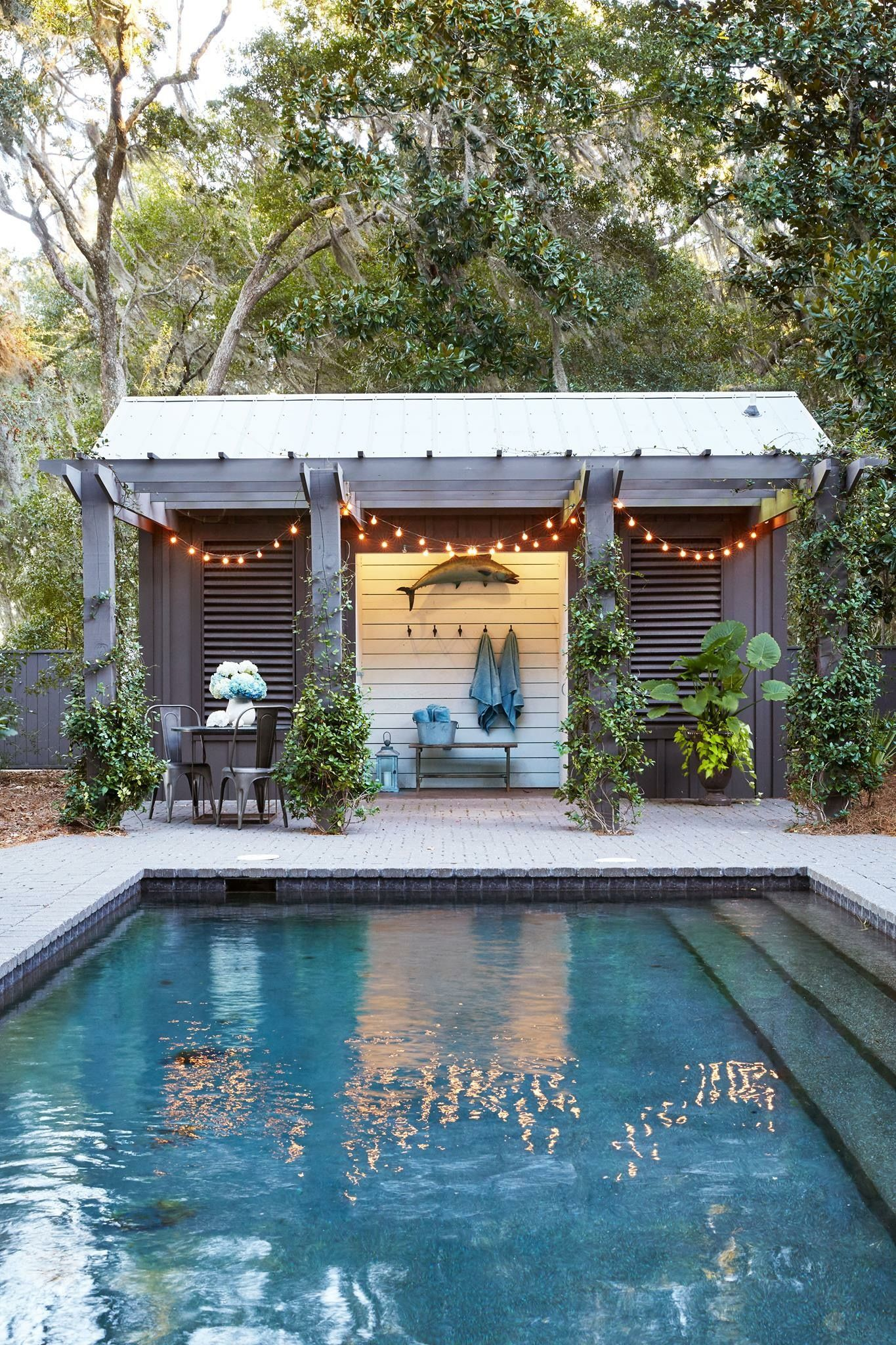 Extend Pergola over front of shed | Pool changing rooms ...