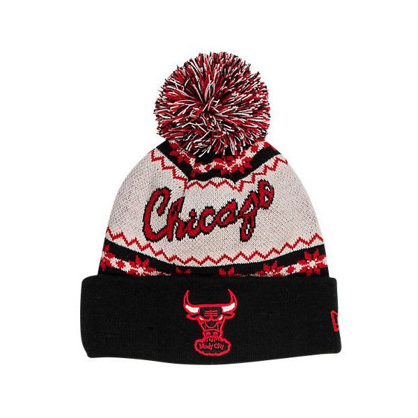 cb12862e4a6 New Era Chicago Bulls NBA Ugly Sweater Knit Hat ( 4.99) ❤ liked on Polyvore