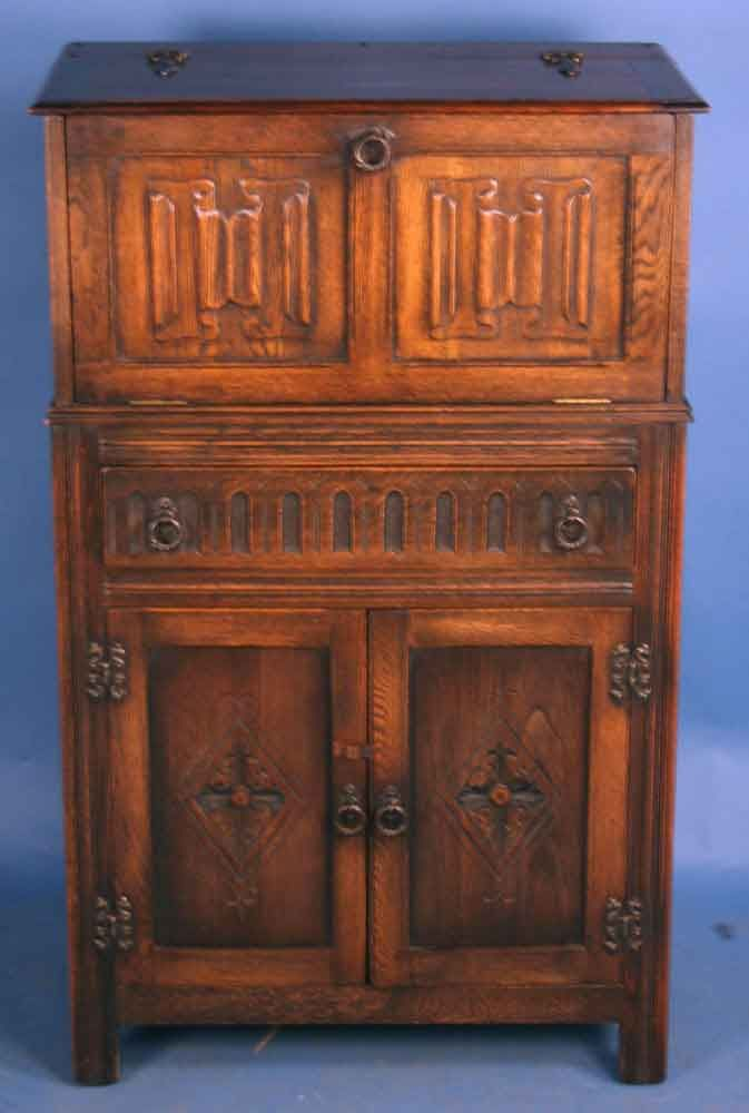 Best Vintage Cocktail Cabinet Antique Oak Jacobean Liquor 400 x 300