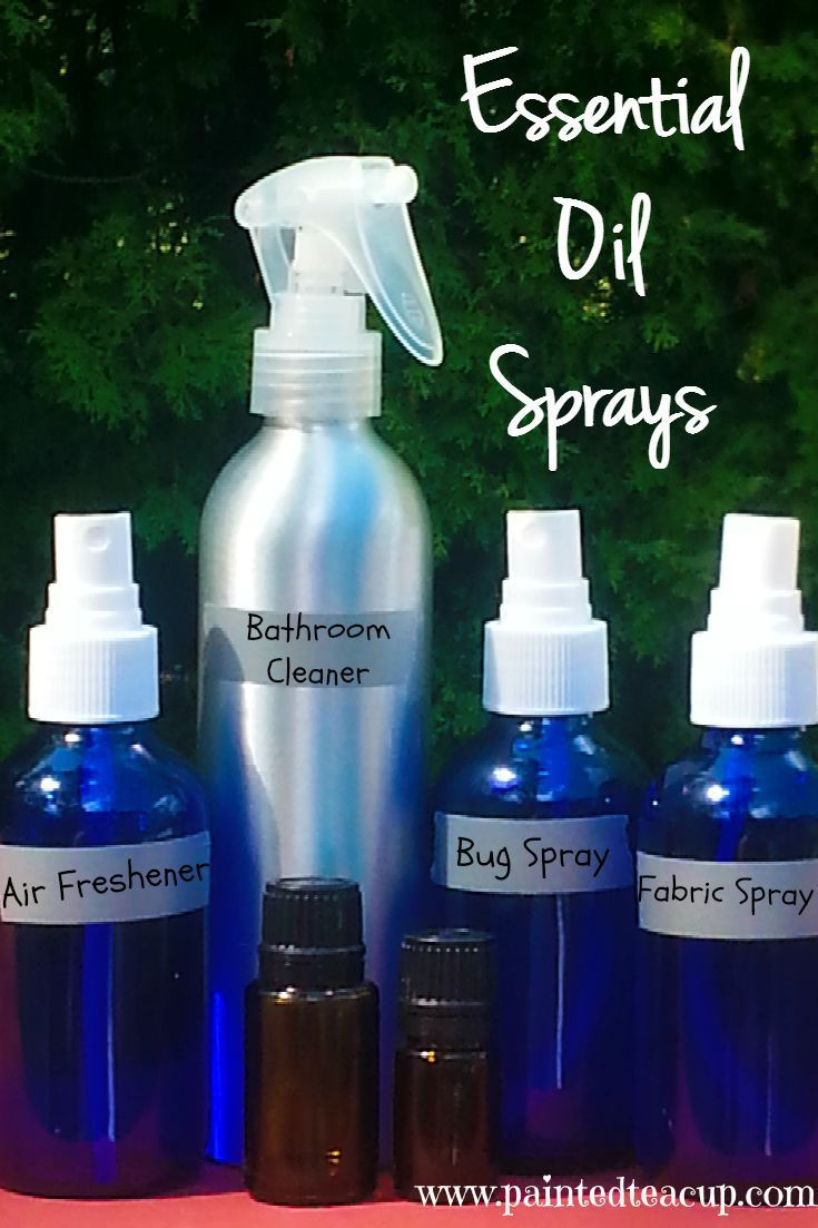 4 Easy AllNatural DIY Essential Oil Sprays for Your Home