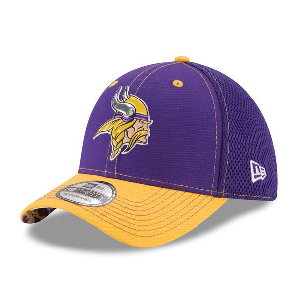 Men s Minnesota Vikings New Era Purple NFL Kickoff Neo 39THIRTY Flex ... a410fd4f8