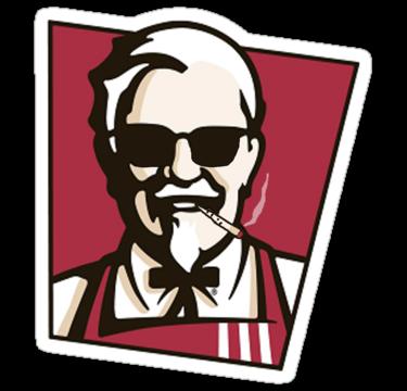 Dank Colonel Honey Barbecue Chicken Logo Kfc