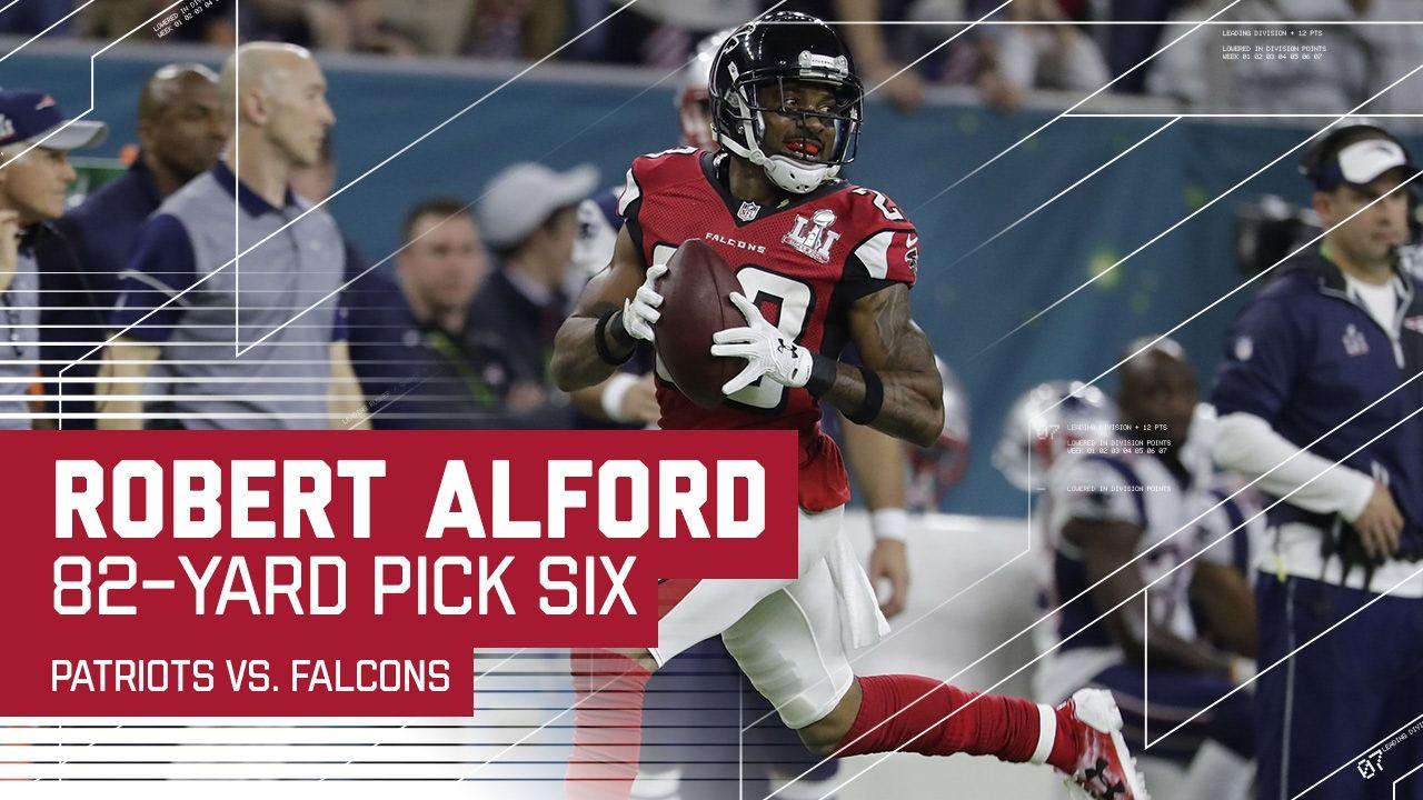 Robert Alford Pick 6 Off Tom Brady Patriots Vs Falcons Super Bowl Patriots Falcons Super Bowl