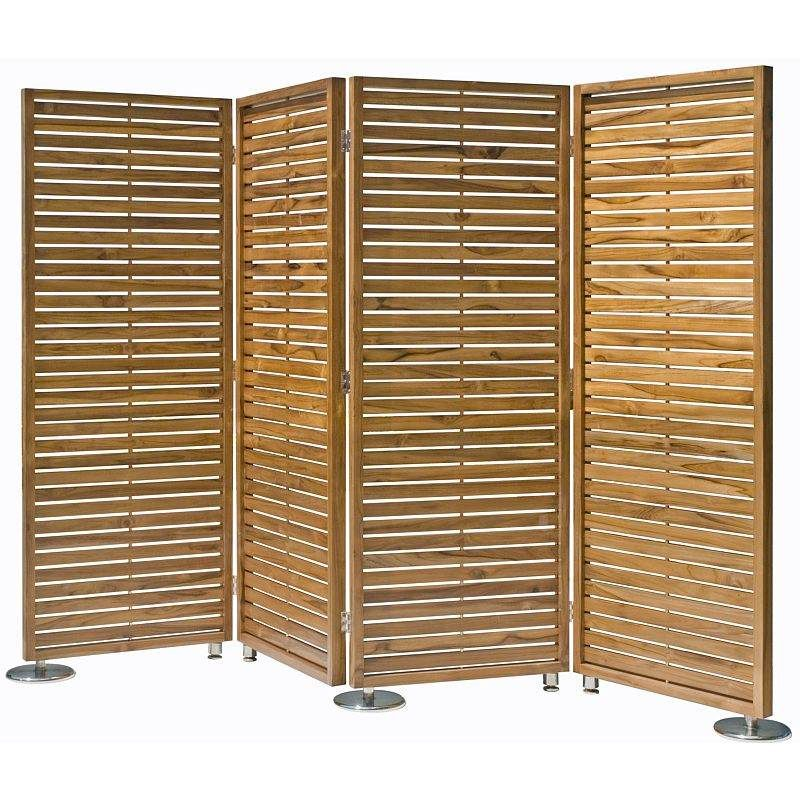 4 Fold Teak Wood Privacy Screen Room Divider 260cm in 2020