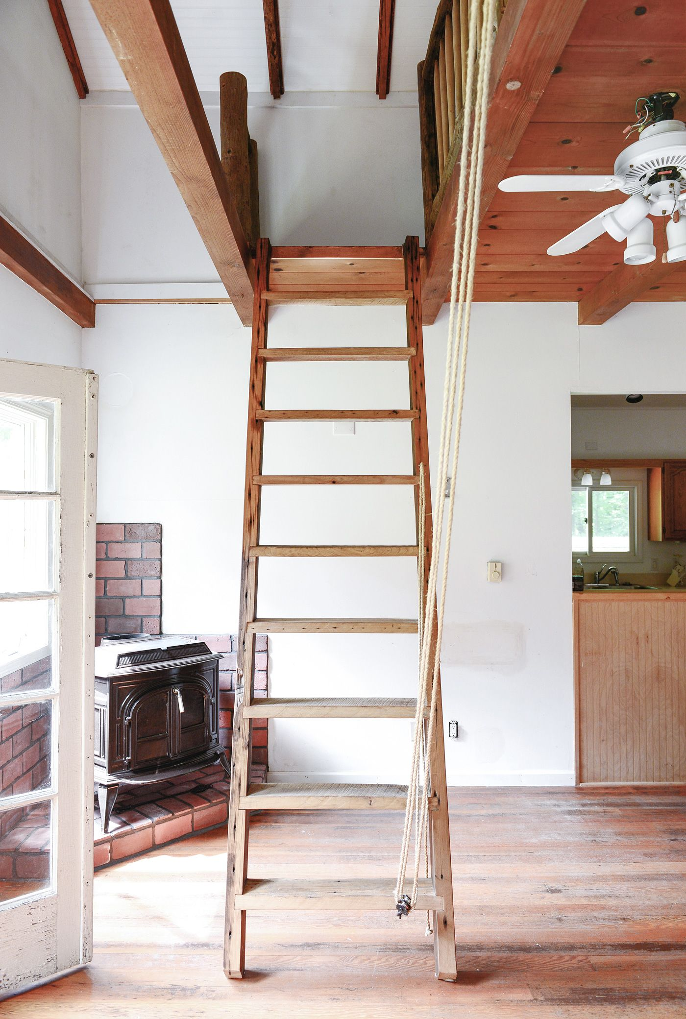 Our Loft Ladder Goes Electric Loft Ladder Electric House House