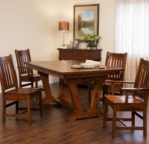 Incroyable Buchanan Trestle Table | Craftsman Trestle Dining Tables | Clear Creek  Amish Furniture