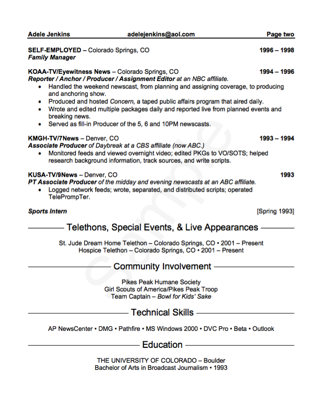 Example Reporter Resume Cv Resumesdesign Resume Template Examples Job Resume Template Sample Resume Templates