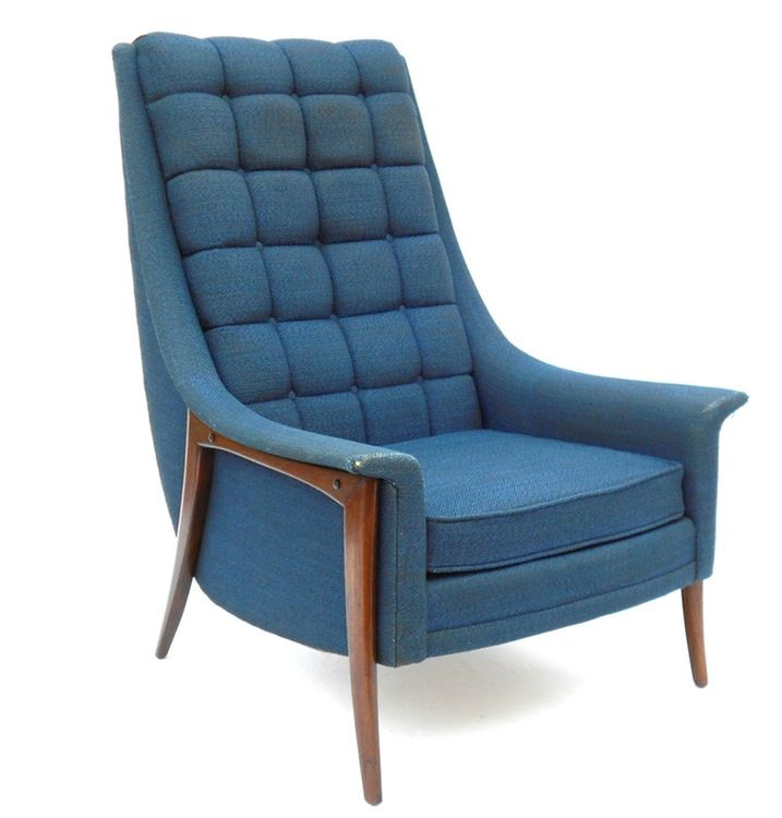 Mid Century High Back Lounge Chair By Kroehler