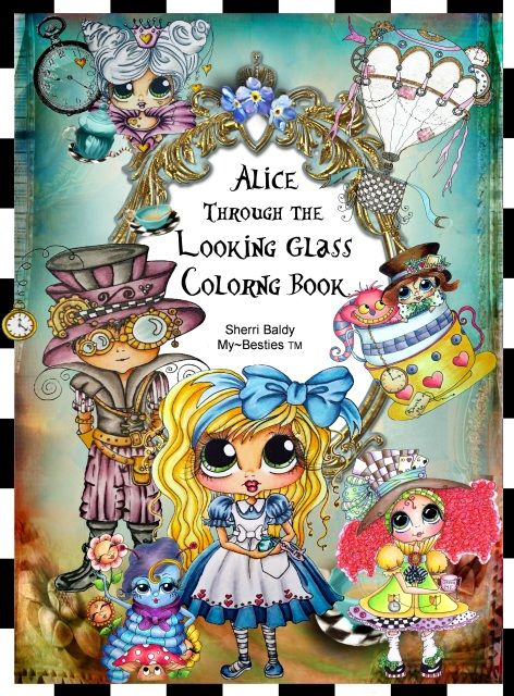 Alice Through The Looking Glass INSTANT Digital Download Coloring
