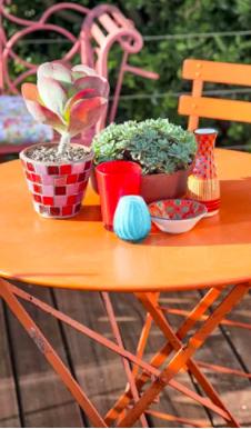 Aménager et végétaliser une petite terrasse fleurie | Mobilier de ...