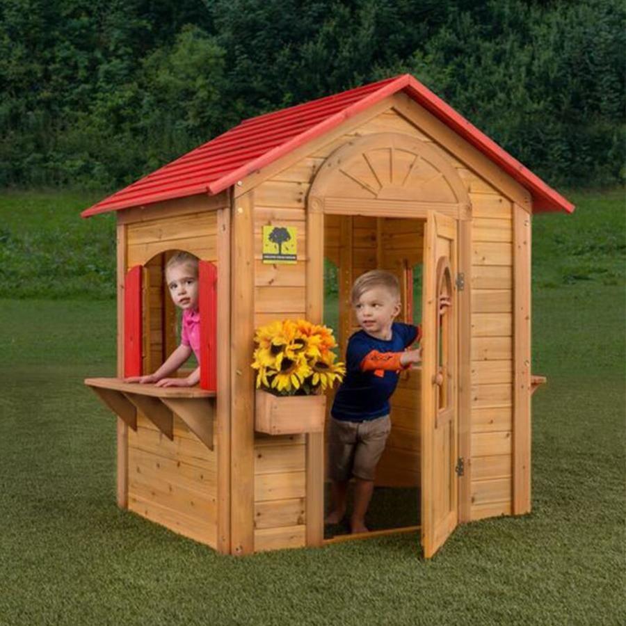 Creative Cedar Designs Wood Playhouse
