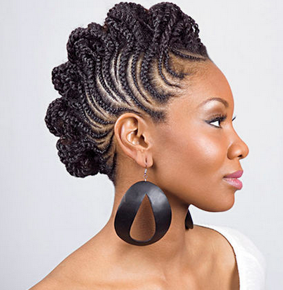 5 Awesome Traditional Nigerian Hairstyles That Rock Braided Mohawk Hairstyles Natural Hair Styles Hair Styles
