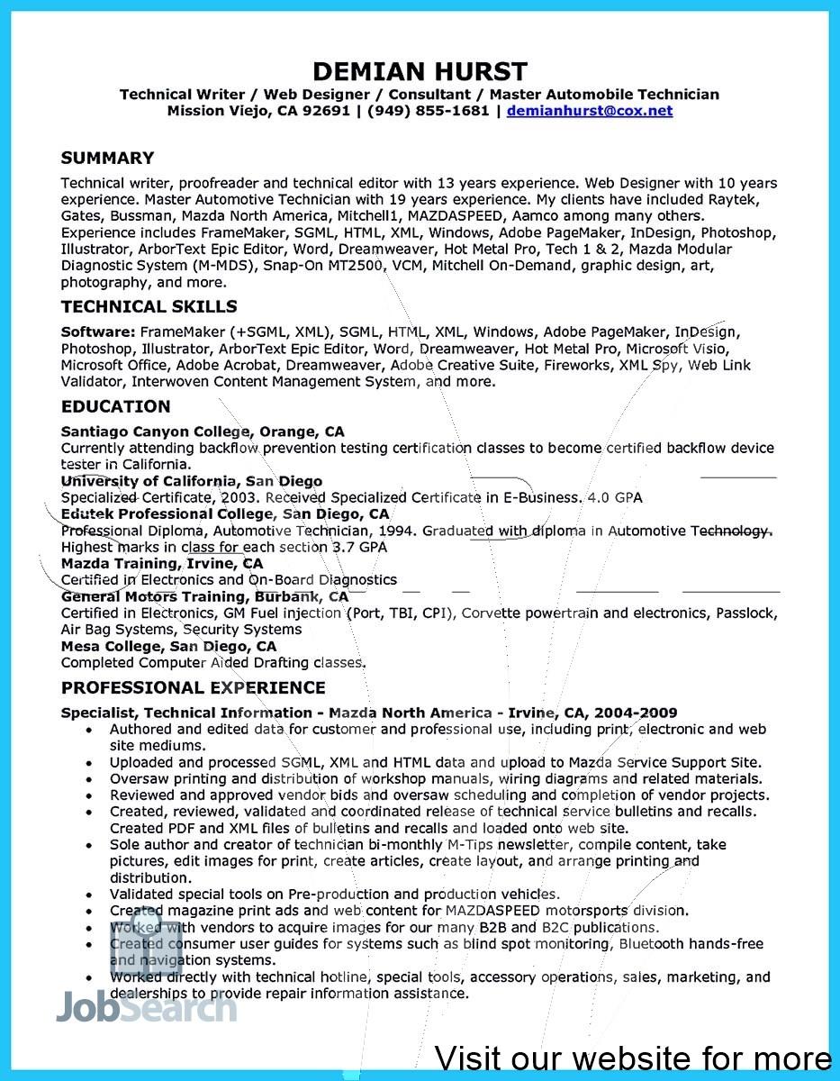 Auto Mechanic Resume Sample Skills 2020 auto mechanic
