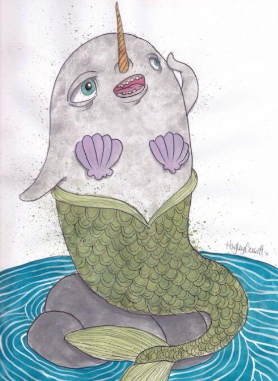A Narwal Mermaid