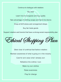 Ethical shopping plan