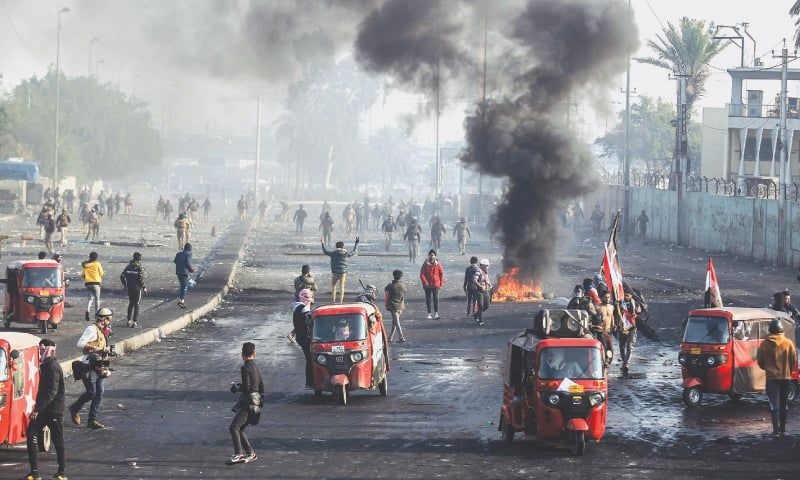 Four protesters, two policemen killed as Iraq unrest