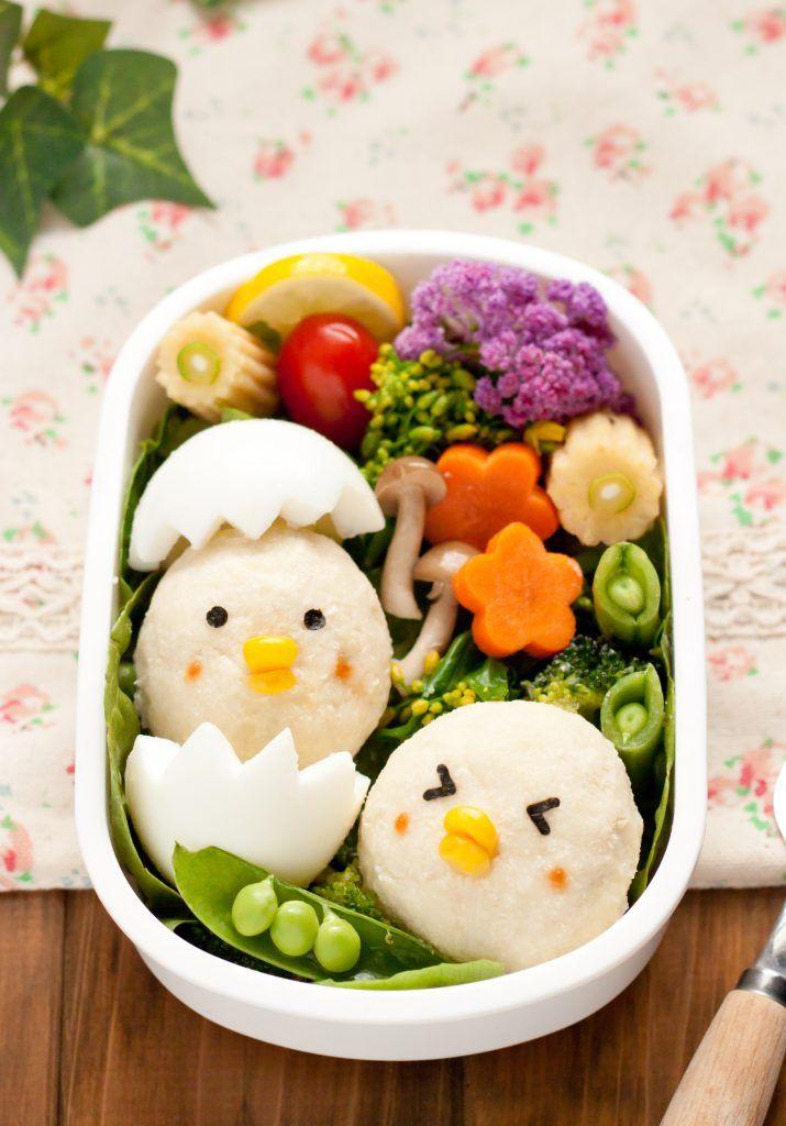 Adorable Easter Bento Box Ideas with Tofu #bentoboxlunch