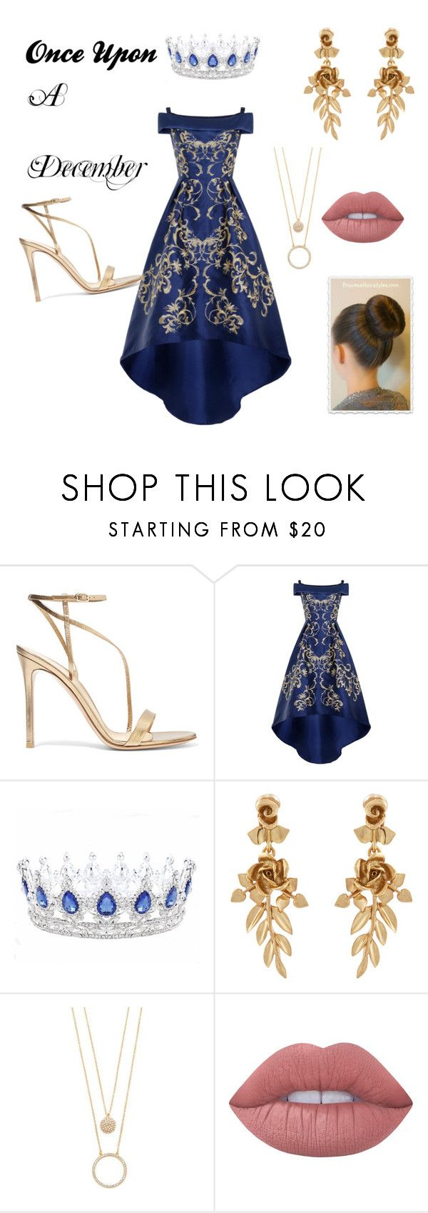 """""""Princess Anastasia"""" by emma-on-broadway ❤ liked on Polyvore featuring Gianvito Rossi, Chi Chi, Oscar de la Renta, Kate Spade and Lime Crime"""