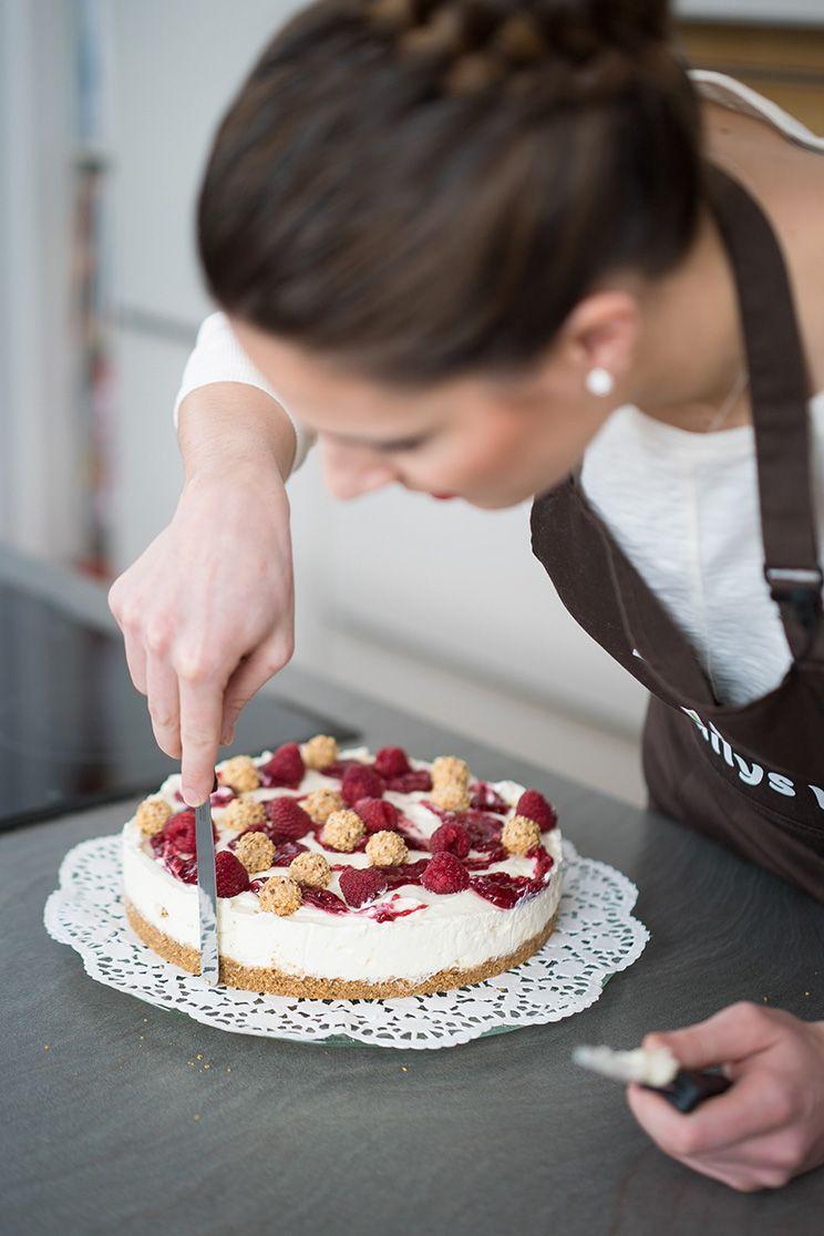 Giotto k hlschranktorte mit himbeeren ohne backen no for Kuchen unterschrank 150 cm