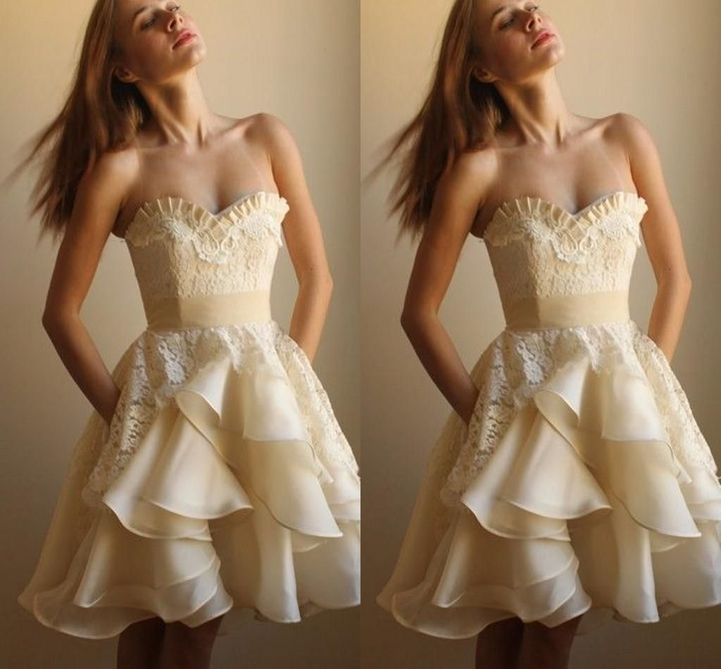 sweetheart lace applique homecoming dresses knee length organza