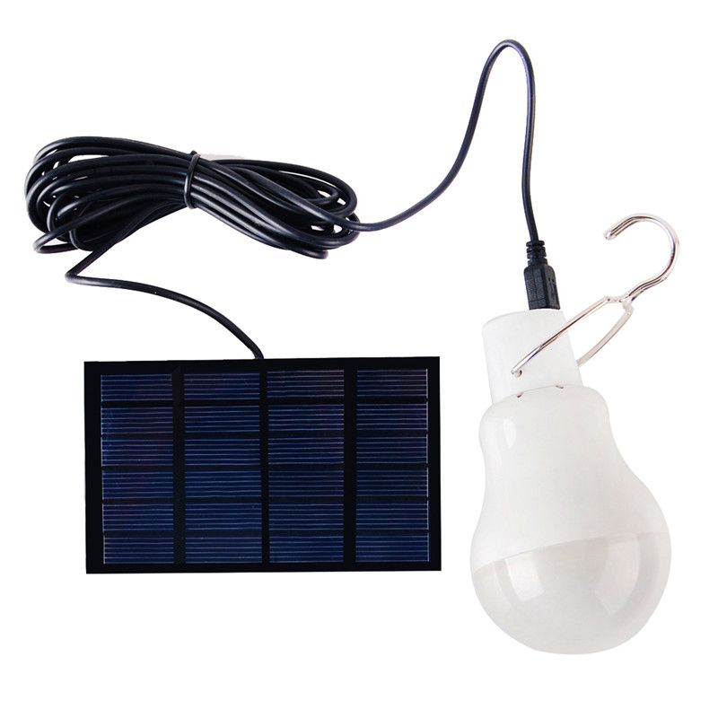 Trailer Camping 0 8w 5v Portable Solar Power Led Bulb Lamp Solar Panel Applicable Outdoor Lighting Camp Tent Fi Solar Power Diy Portable Solar Power Solar Lamp