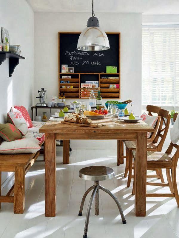 Bancos para las mesas de comedor combinados con sillas. ¡Decoidea a ...