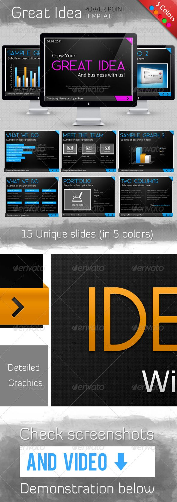 Great Idea Template - Powerpoint Templates Presentation Templates ...