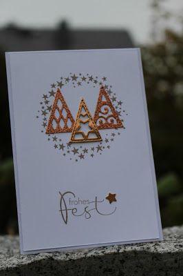 Weihnachtskarte Sternenkranz, Frohes Fest
